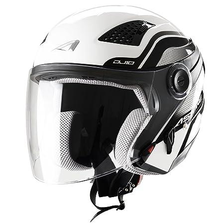 Astone Helmets DJ10GEX-FWHXL Casque Jet DJ10 Facelift Blanc Taille XL