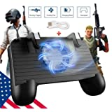 Mobile Game Controller [Upgrade Version] Mobile Gaming Trigger for PUBG/Fortnite/Rules of Survival Gaming Grip and Gaming Joysticks for 4.5-6.5inch Android iOS Phone (Mobile Game Controller) (Color: Mobile Game Controller, Tamaño: Mobile Game Controller)