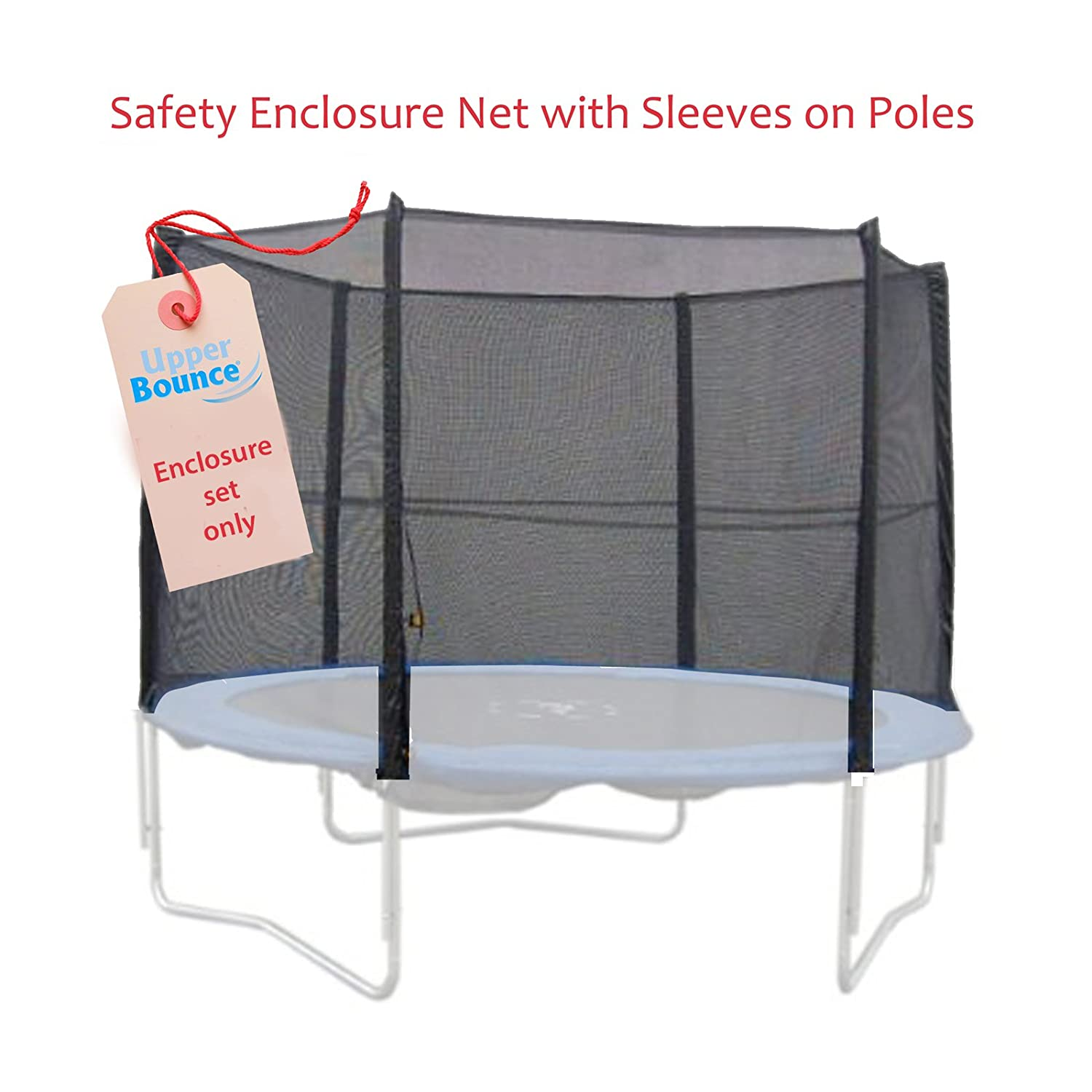 6 Pole Trampoline Enclosure Set to fit 15 FT. Trampoline Frames with set of 3 or 6 W-Shaped Legs (Trampoline Not Included) new inflatable bouncer bounce house with obstacle inflatble slide tunnel climbing wall trampoline for kids jumper castle