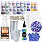 Acrylic Paint Pouring Bundle - Floetrol, Cups, 16x 2-Ounce Acrylic Paints, 3X 6-inch Canvases, Pixiss Acrylic Pouring Oil, Mixing Sticks, Gloves, Complete Kit for Paint Pouring (Tamaño: Pouring Bundle)