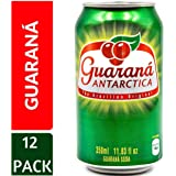 Guarana Antarctica 350ml (Pack of 12), Guaraná-Flavoured Soft Drink, Made from Amazon Rainforest Fruit, Imported from Brazil (Tamaño: 11.83 Fl. Oz (Pack of 12))