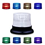 AnTom Led Magnetic Warning Beacon,Truck Car Vehicle Emergency Hazard 13 FT High Power Beacon Caution Warning Snow Plow Safety Flashing 25W Strobe Light 8 Color(Upgraded version) (Color: 8 Color)