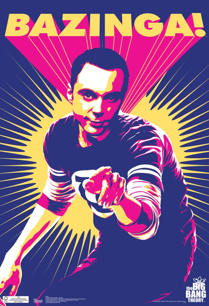 Sheldon Bazinga Big Bang Theory Poster