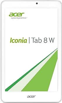Acer Iconia Tab 8 W (W1-810) 20,1 cm (7,9'') Tablette Tactile (Intel Atom Z3735G, 1,33GHz, 1Go RAM, 16Go eMMC, HD écran mit IPS Technologie, Win 8.1) Argent (Import Europe)
