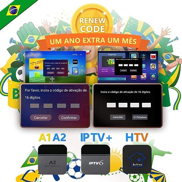 IPTV brazil code,TV box brazil Renew Code, A2 Renew Code
