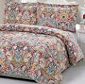 """100% Cotton Paisley Pattern Duvet Cover Set Full/queen """"Duvet Cover and 2 Pillowcases Included"""""""