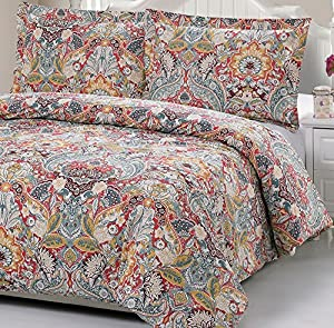 100% Cotton Paisley Pattern Duvet Cover Set Full/queen