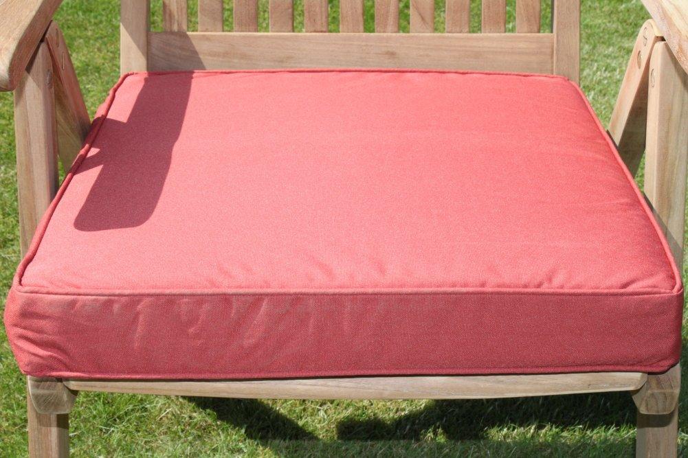 Gartenmöbel-Auflage – Sitzkissen für großen Gartenstuhl in Terrakotta günstig bestellen