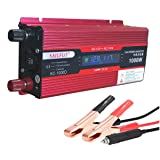 SAILFLO 1000W Power Inverter DC 12V to 110V AC Car Converter with Digital Display Dual AC Outlets USB Charging Ports for Tablets, Laptops and Smartphones (Color: US-SAIL-600W)