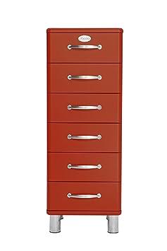 Tenzo MALIBU Designer Chest of Drawers, 111 x 41 x 41 cm, Red