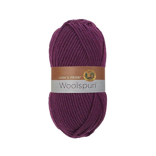 Lion Brand Yarn 671-141 Lion's Pride Woolspun, Plum
