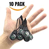 {ME SUPERB} Mini Survival Compass, Pack of 10 - Outdoor Camping Hiking Pocket Compass Liquid Filled Mini Compass For Paracord Bracelet Necklace Key chain