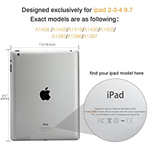 MoKo Case for iPad 2 / 3 / 4 - Ultra Lightweight Slim Smart Shell Stand Cover with Translucent Frosted Back Protector for iPad 2 / The NEW iPad 3 (3rd Gen) / iPad 4, Space GRAY (with Auto Wake/ Sleep) (Color: 1-Space Gray, Tamaño: 9.7 Inch)