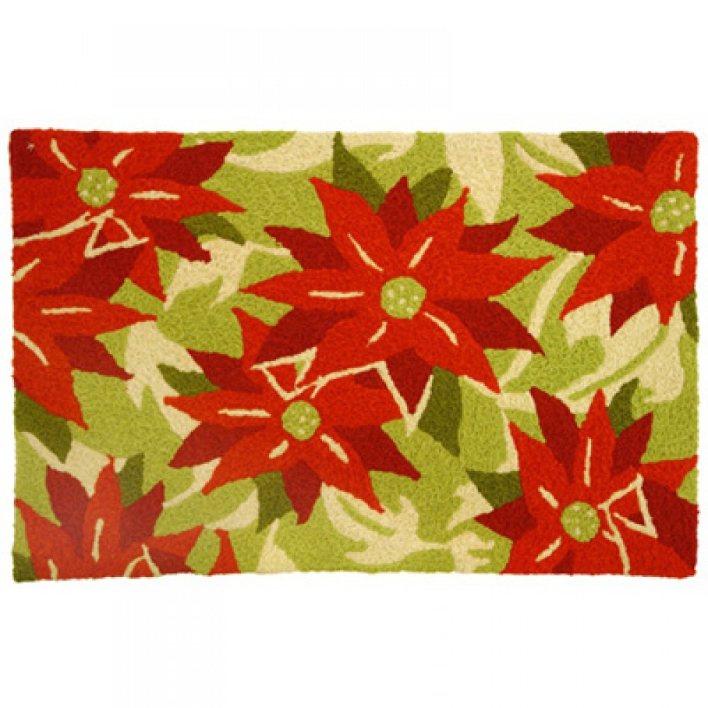 Poinsettia Floor Mats and Rugs