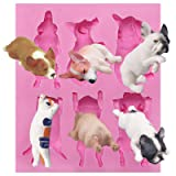 Funshowcase Sleeping Dogs and Cat Silicone Mold (Color: Sleeping Dogs and Cats)