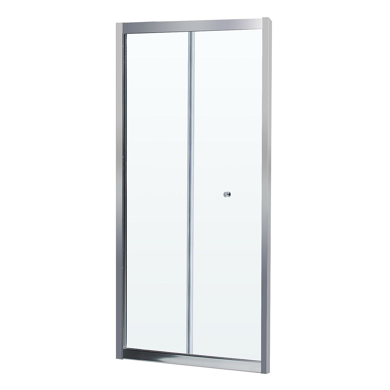 DreamLine SHDR-4532726-01 Frameless Bi-Fold Shower Door 30 to 31-1/2 by 72 Clear 1/4 Glass Door Chrome Finish