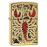 Zippo Crustacean Design Pocket Lighter, High Polish Brass (Color: High Polish Brass)