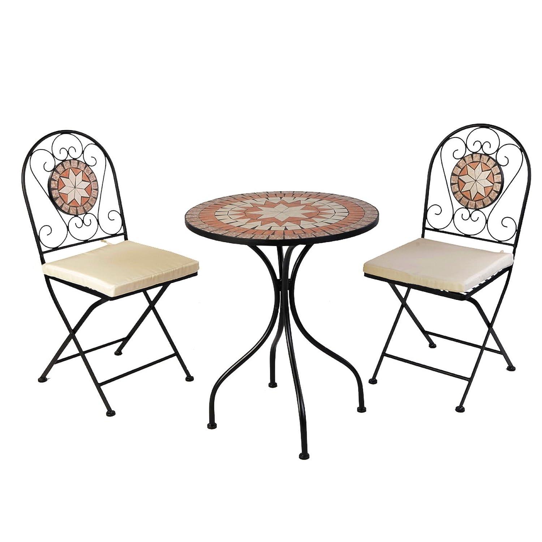 Bistro-Set Balkon-Set Eisen Mosaik Klappbar günstig online kaufen
