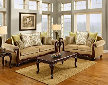 Banstead Love Seat with Pillows by Furniture of America