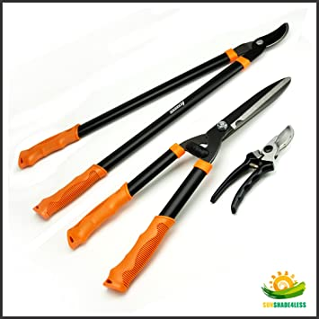 Amazon.com : Shenso® 3 Piece Combo Garden Tool Set With Lopper ...