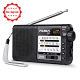 [Upgraded] Battery Operated Portable Radio AM FM Shortwave Radio with Best Reception, Supports Micro-SD Card/TF Card, by PRUNUS (Color: Black(upgraded))