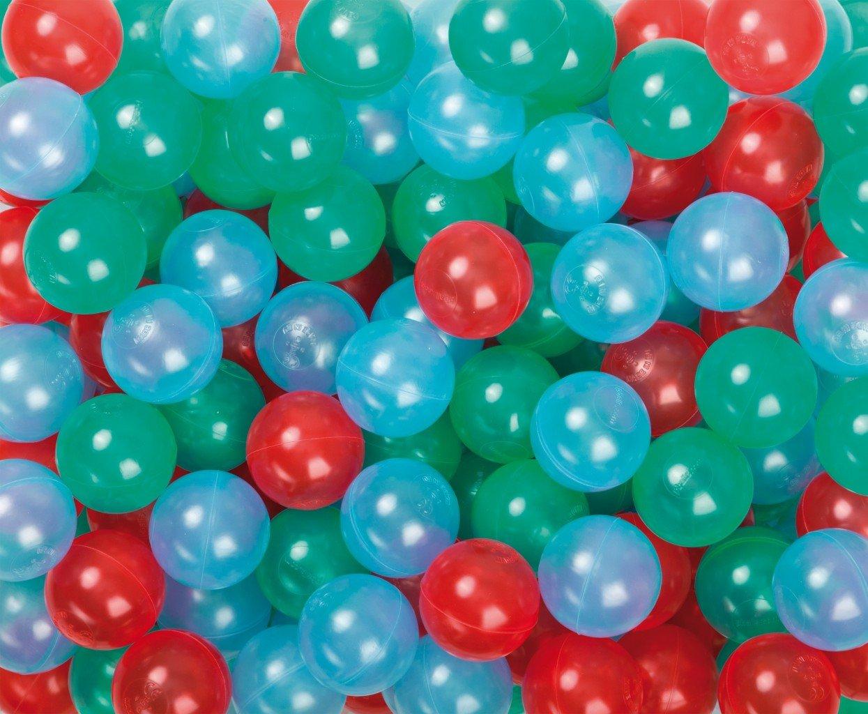 500 Stück Spiel- und Ballkugeln für`s Bällebad / Therapiebälle / Durchmesser: 75 mm / farblich sortiert jetzt bestellen