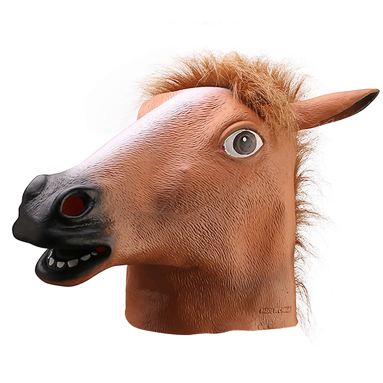 Ylovetoys Latex Horse Head Mask Halloween Costume Animal Masks 0