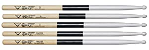 Vater Power 5B Extended Play Wood Tip Drum Sticks, Pair