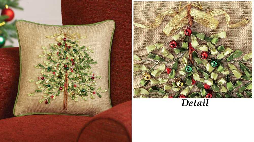 Christmas Holiday Tree 12 Accent Pillow