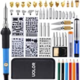 Wood Burning Kit, Uolor 54Pcs 2 in 1 Pyrography Wood Burner with Soldering Iron Accessories, Adjustable Temperature Woodburning Pen, VariousEmbossing/Carving/Soldering Tips (Tamaño: Wood Burning Kit)