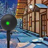 Christmas Lights Projector Laser Light Xmas Spotlight Projectors Waterproof Outdoor Landscape Spotlights for Holiday Halloween Yard Decorations (Color: Green and Red Laser Light)