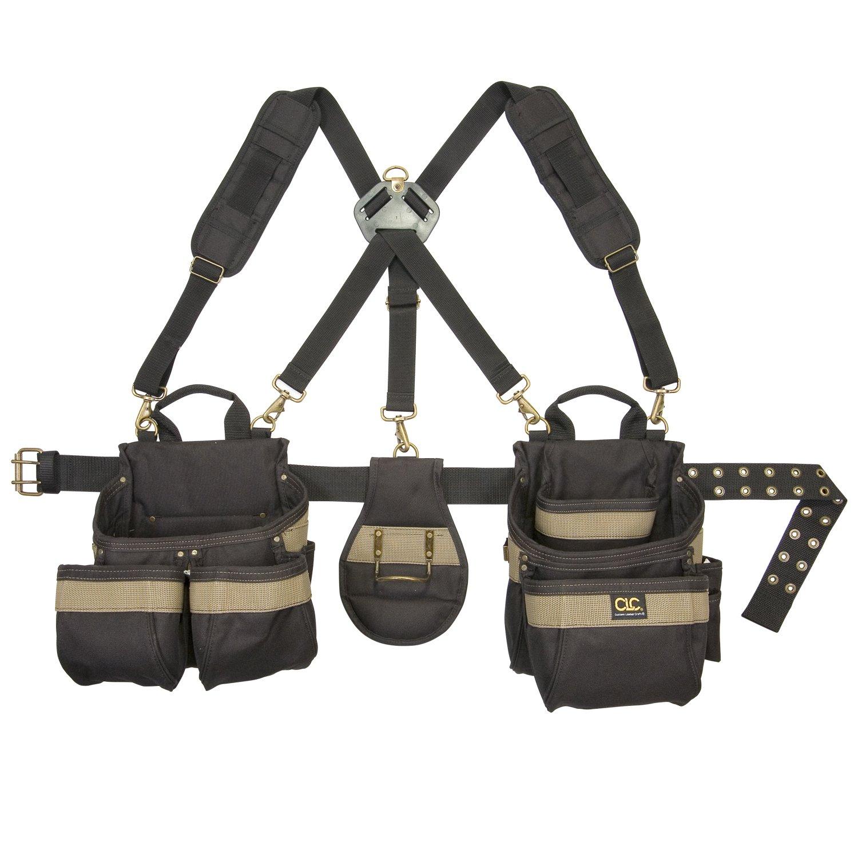 Tool Belt Work Suspenders Pouch Holder Bag Clip Organizer