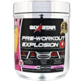Six Star Elite Series Explosion Pre Workout Powder, Extreme Energy, Focus and Intensity for Better Workouts, Pink Lemonade, 30 Servings