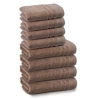 S/ér/éna Gant de toilette chocolat Marron Alinea 21.0x16.0.