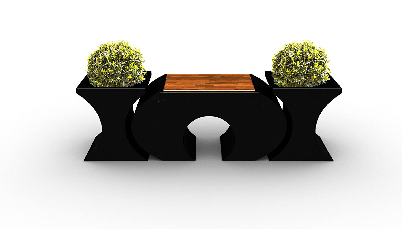 ORIGINAL LAGRINO Sitzgarnitur in HOCHGLANZ SCHWARZ – 1 HOCKER + 2 VASEN WITTERUNGSBESTÄNDIG – jetzt bestellen