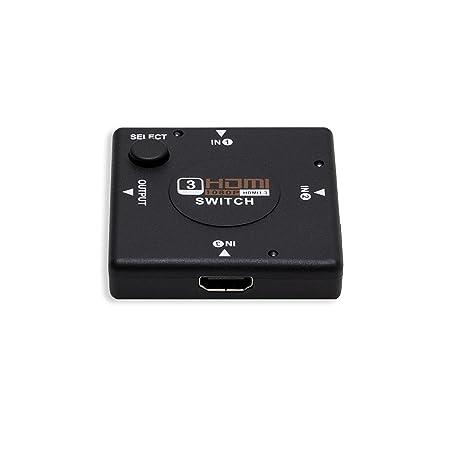 Syba Commutateur HDMI compact 3 entrées/1 sortie