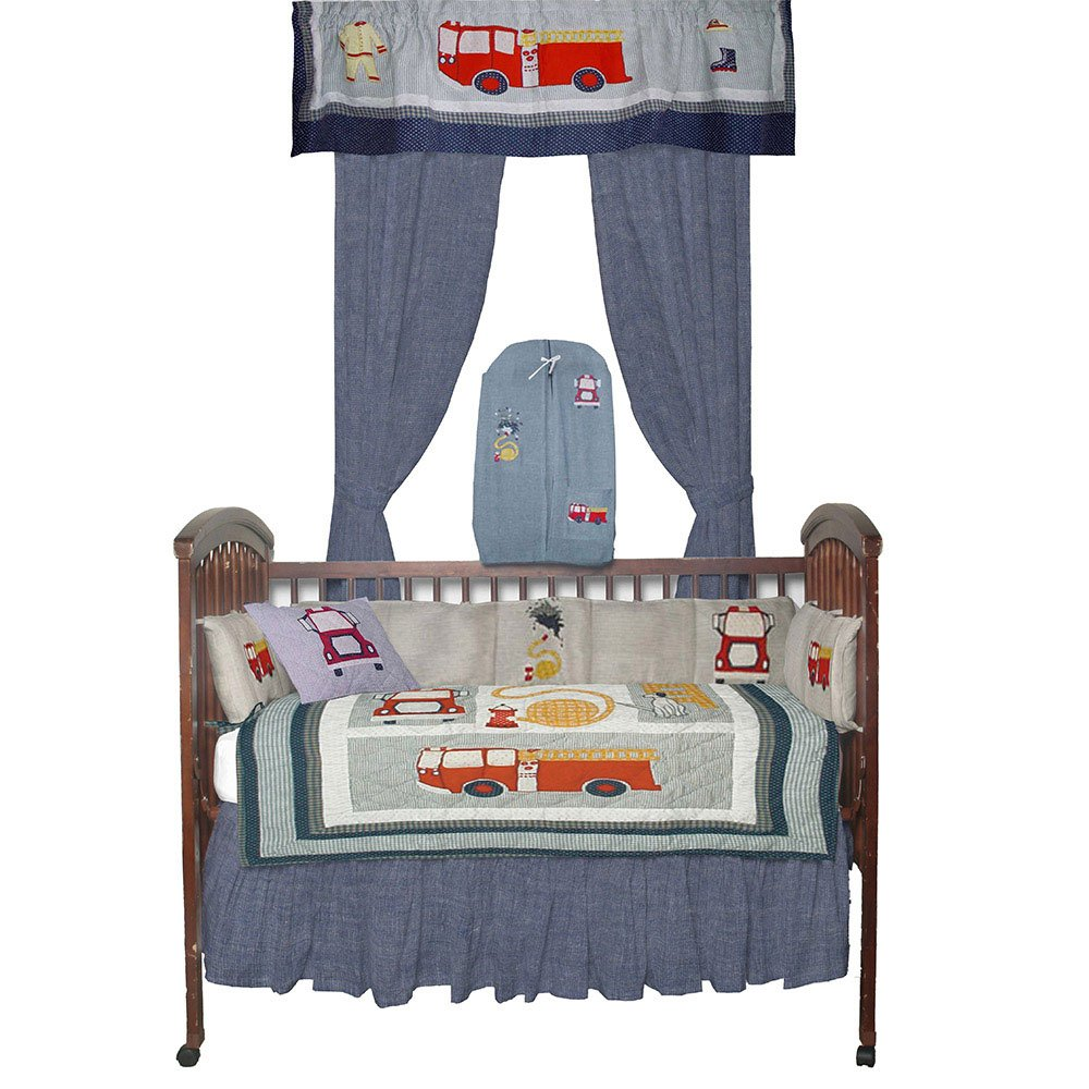Patch Magic Fire Truck Baby Bedding