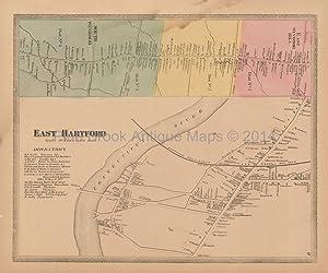 South Windsor Village Map, 1869