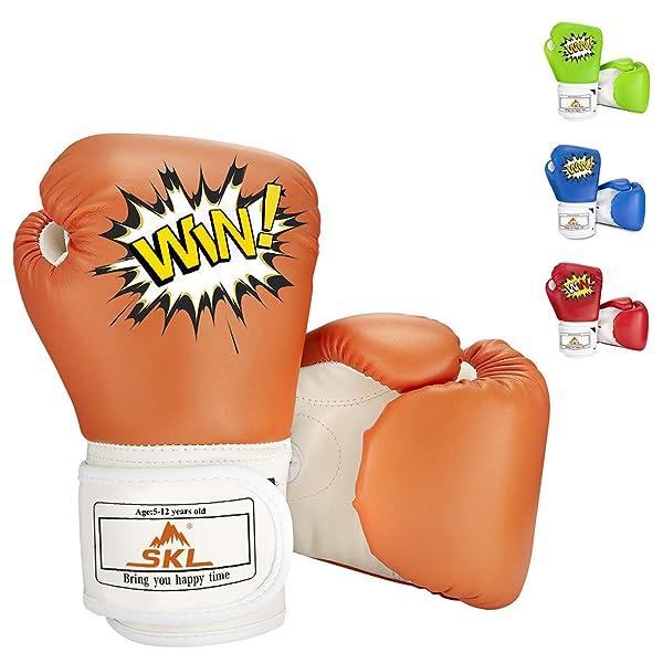 SKL Kids Boxing Gloves 4oz Training Gloves for Children Cartoon Sparring Boxing