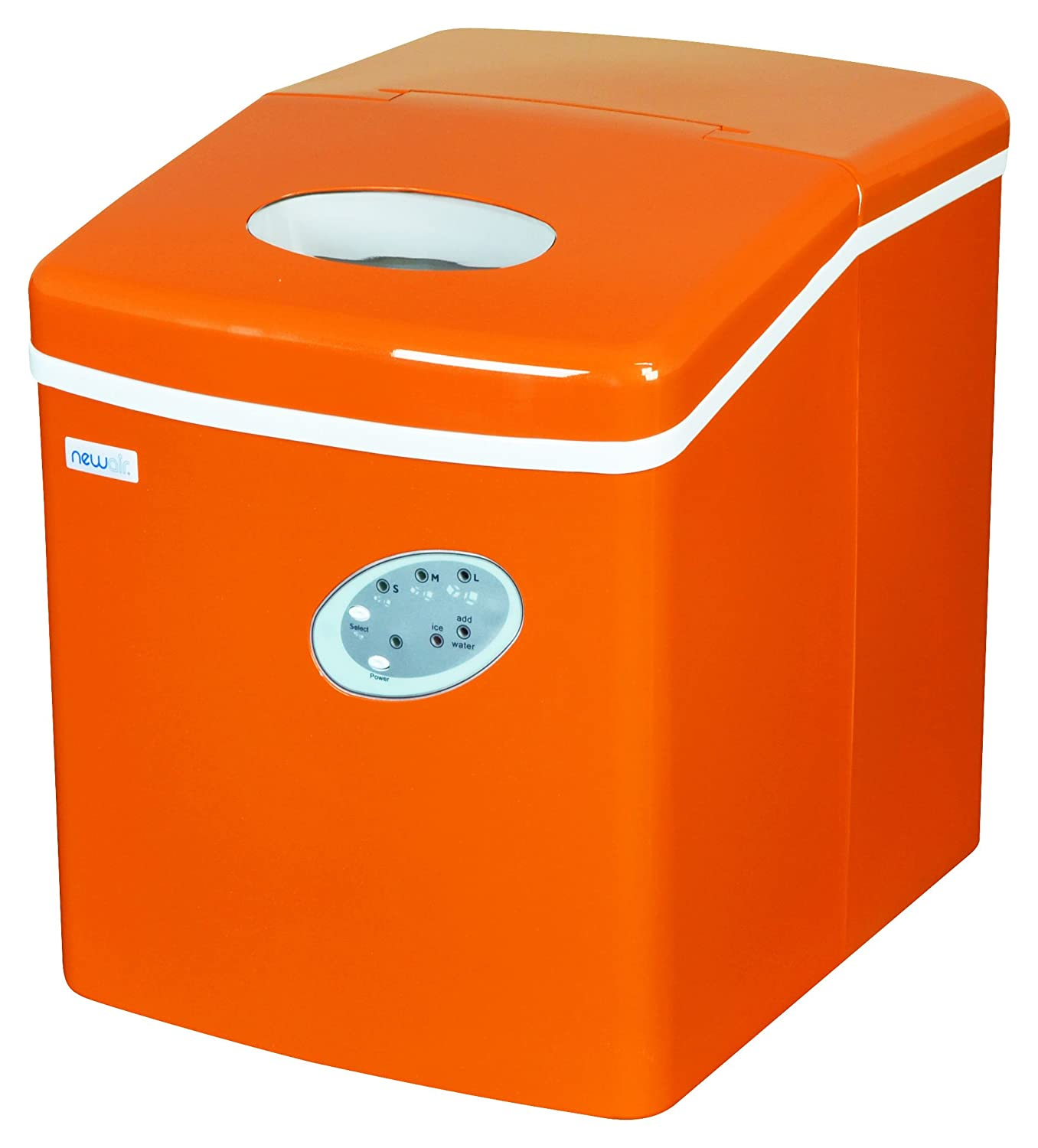 NewAir AI-100VO Portable Ice Maker, Orange