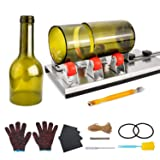 Glass Bottle Cutter, HENMI Glass Cutting Tools/DIY Machine for Cutting Wine, Beer, Champagne, Whiskey Bottle Cutter Kit for DIY Arts and Crafts for Adults with Accessories Tool Kit, Gloves