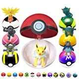 L-Anan 6 Pieces Figures Plastic Toy ball+8 pcs Different style Animal Figures