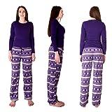 Cherokee Women's 2 Piece Pajama Set, fair isle, S