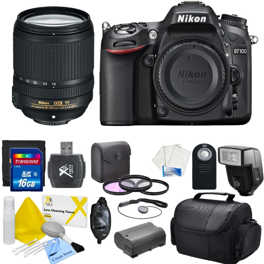 Nikon D7100 24.1 MP DX-Format CMOS Digital SLR With Nikon 18-140mm f/3.5-5.6G ED VR AF-S DX NIKKOR Zoom Lens & CS Essential Package: Includes High Speeed 16GB SDHC Memory Card ..