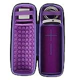 co2crea Hard Travel Case for Ultimate Ears UE MEGABOOM 3 Portable Bluetooth Wireless Speaker (Ultraviolet Purple case for Speaker and Charging Dock) (Color: Black Case + Inside Ultraviolet Purple)