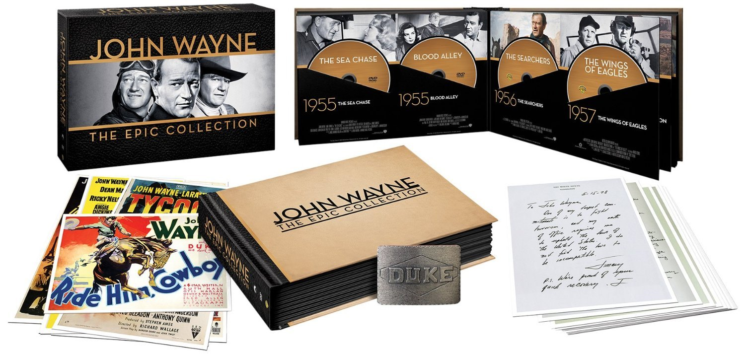 """Save 54% on John Wayne: The Epic Collection (with Amazon Exclusive """"Duke"""" Belt Buckle)"""