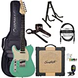 Sawtooth Classic ET60 Left Handed Surf Green Guitar Players Pack (Color: Surf Green, Tamaño: Left Handed)
