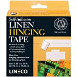 Lineco Self Adhesive Linen Hinging Tape 1.25 in. x 35 ft. white linen tape (Color: White)