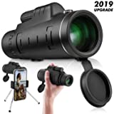 Monocular Telescope High Power 40x60 - Ce Optics High Powered Bak4 45 Degree Angled Eyepiece Telescope with Smartphone Tripod and Mount Adapter for Target Shooting, Birdwatching, Wildlife Scenery