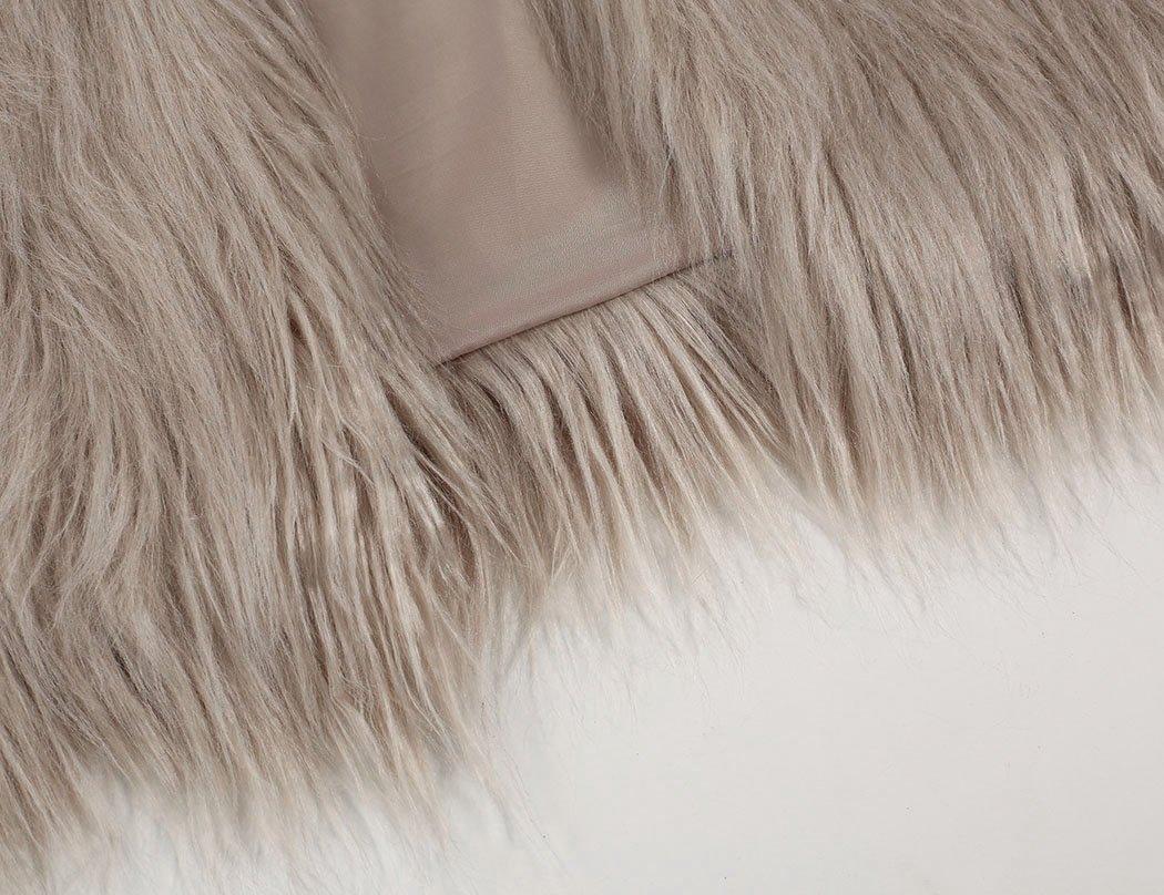 Naggoo Women's Fluffy Faux Fur Coat Winter Long Sleeve Warm Outerwear 3